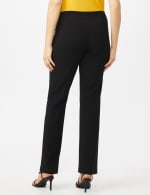 Secret Agent Tummy Control Pants Cateye Rivets - Average Length - Misses - Black - Back