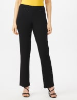 PRE ORDER Secret Agent Tummy Control Pants Cateye Rivets - Average Length - Black - Front