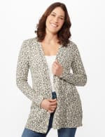 Animal Jacquard Duster -  - Front