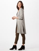 Long Sleeve Duster with Side Slits -  - Detail