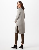 Long Sleeve Duster with Side Slits -  - Back