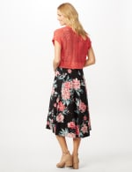 Floral Dress with Crochet Sweater -  - Back