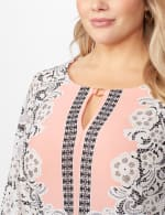 Placed ITY Puff Print Dress- Plus -  - Detail