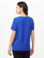 Pinktuck Crepe Blouse - Marine Blue - Back