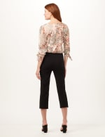 Pull-On Lace Trim Crop Pants - Black - Back