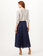 Textured Pull-On Skirt - Deep Pacific Blue - Back