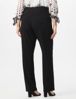 Pre Order Secret Agent Trouser with Cateye Pockets & Zipper- Short Length - Black - Back