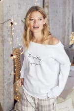 """Perfectly Imperfect"" Cozy Pullover - French White - Back"