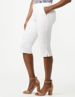 Mid Rise Skinny Petal Pusher With Goddess Fit Solutions - White - Detail