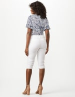 Mid Rise Skinny Petal Pusher With Goddess Fit Solutions - White - Back