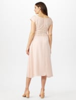 Bodice Cascade Ruffle Dress - Blush - Back