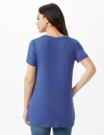 LOVE Hi-Lo Screen Tee - Indigo - Back