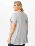 LOVE Hi-Lo Screen Tee - Grey - Back