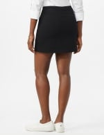 Pull On Solid Skort with Pockets - Black - Back