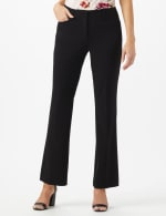 PRE ORDER SECRET AGENT TROUSER WITH CATEYE POCKET & ZIP - Black - Front
