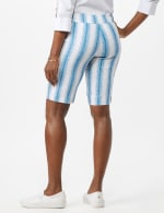 Pull On Skimmer Stripe Short - White/Blue - Back
