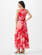 Petite Tie Dye  Floral Maxi Dress - Red - Back
