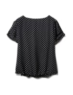 Dot Bubble Hem Woven With Bar - Black/White - Back