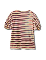 Rib Stripe Thermal Tee - Misses - Banana - Back