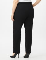 Secret Agent Pull On Tummy Control Pants with Pockets - Short Length - Black - Back
