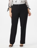 Secret Agent Pants with Cat Eye Pockets & Zip - Black - Front