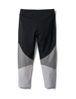 Color Block Knit Capri - Misses - Grey/Black - Back