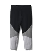 Color Block Knit Capri - Misses - Grey/Black - Front