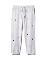 Embroidered Star Knit Pant - Misses - White - Front