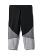 Color Block Knit Capri - Grey/Black - Front
