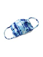 PRE ORDER Tie Dye Fashion Face Mask - Navy - Front