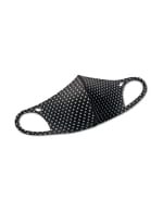 Pre-Order Diamond Anti-Bacterial Fashion Face Mask - Black/White - Front