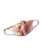 PRE ORDER Palm Print Anti-Bacterial Fashion Mask - Pink Multi - Front