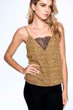 Natural Pattern Essential Tank - Mustard - Front