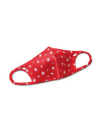 Star Anti-Bacterial Fashion Face Mask - Red/White - Front