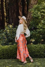 Pre-Order Maxi Skirt in Aix - Multi - Back