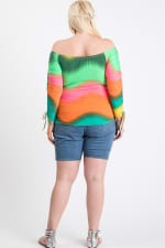 Colorful Vibes Off-Shoulder Top - Multi - Back