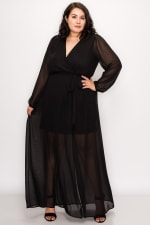 To Wow Maxi Dress - Black - Front