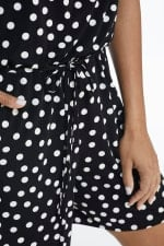 Suzette Short Jumpsuit - Black/White - Detail