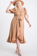 Give Your Pants A Break Summer Dress - Taupe - Front