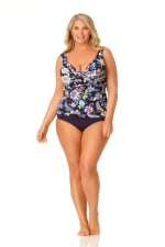 Pre-Order Anne Cole® Holiday Paisley Tankini Swimsuit Top - Multi - Front