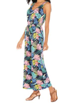 Caribbean Joe® Palm Print Romper - Blue - Detail