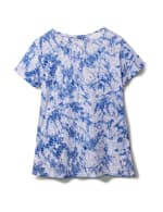 Tie Dye Burnout Knit Tee - Blue - Back