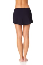Anne Cole® Live in Color Sarong Swimsuit Skirt Bottom - Misses - Navy - Back
