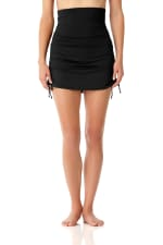 PRE ORDER Anne Cole® Live in Color Tummy Control Swimsuit Skirt Bottom - Black - Front