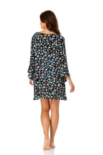PRE ORDER Anne Cole® Beautiful Bunches Tunic Swimsuit Cover-Up - Multi - Back