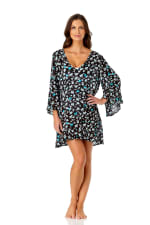 PRE ORDER Anne Cole® Beautiful Bunches Tunic Swimsuit Cover-Up - Multi - Front