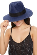 Pre-Order Spring/Summer Women's Wide Brim Hat - Blue - Front