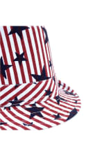 Pre-Order Spring/Summer USA Stars StripesTrilby Fedora - One Color - Detail