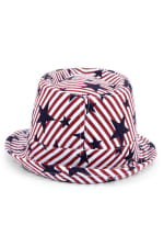 Pre-Order Spring/Summer USA Stars StripesTrilby Fedora - One Color - Back