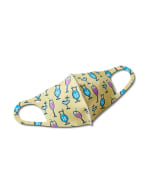Party Drinks Anti-Bacterial Fashion Face Mask - Lemon Multi - Front